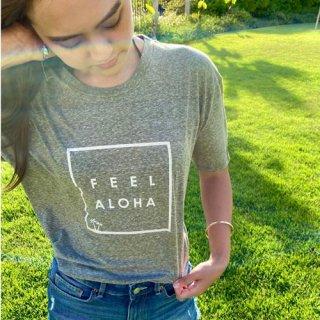 『Lilly&Emma』ハワイのロゴTといえばこれ!【ハワイ店限定カラー】FEEL ALOHA Tシャツ(グリーン)の商品画像