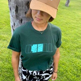 『Chill』シンプルなロゴだから着回し力抜群「logo tee」(Leaf Green)の商品画像