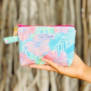 『Vivi Palette 』ミニポーチ「Pastel Hibiscus」をバッグに忍ばせて毎日アロハ気分♪の商品画像