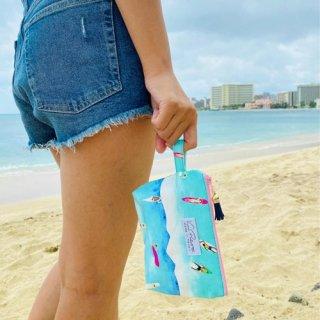 『Vivi Palette 』さりげないデザインがほっこりさせてくれるミニポーチ「Surf Time」の商品画像