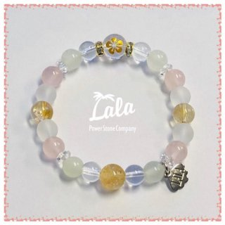 『LALA Power Stone Company』淡いカラーで癒し度MAXなカラマブレスレット(プルメリアG ・シトリン)の商品画像