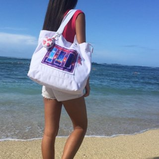 『HOLOHOLO BOUTIQUE』【2色展開】エコバッグとしても活躍しそう!「Beach Tote Bag」の商品画像