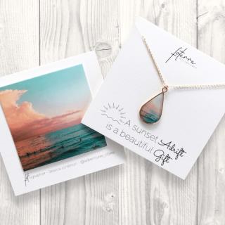 『Foterra Jewelry』ハワイの思い出を胸元に「Sunset Gift」ネックレス(14kゴールドフィルド)の商品画像