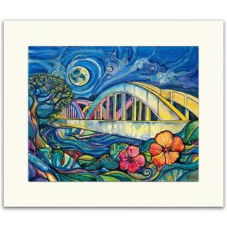 『SUBLIME』ノースショアに行ったときの気持ちを思い出させてくれる「Colleen Wilcox」マットプリント (Rainbow Bridge)の商品画像