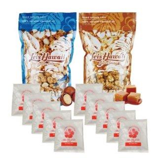【お得なセット】Leis Hawaiiポップコーン2種類&ハワイ島カウコーヒーブレンド ドリップパック10コセットの商品画像