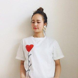 大人用プリントTシャツ 【ハート】