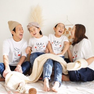 ●3枚セット※親子でお揃いTシャツ【かお】