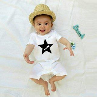 ◎(size70・80)名前入ロンパース【星】