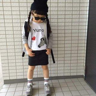 ◎長袖変更可能:☆(size80〜120)名前入Tシャツ【シマウマ】