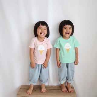◎(size90~130)名前入りTシャツ【アイスクリーム】