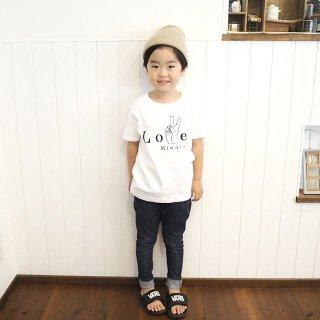 ◎(size80〜130)名前入Tシャツ【Love.】