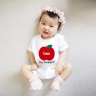 ◎名前入りロンパース【Sweet apple】