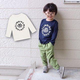 ◎(size80~120)名前入り長袖Tシャツ【マウンテン】