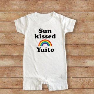 (size70・80)名前入り ロンパース【Sun Kiised】