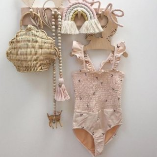 即納SALE(2type)さくらんぼ swimwear(ピンク)