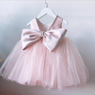大きなサイズまで〜ビッグリボンパールプリンセスドレス