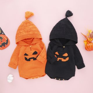 <img class='new_mark_img1' src='https://img.shop-pro.jp/img/new/icons13.gif' style='border:none;display:inline;margin:0px;padding:0px;width:auto;' />Trick or Treat ハロウイーンニットロンパース
