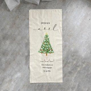 お名前お入れでき、ツリーも選べます:Christmasタペストリー【Noel】縦