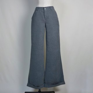 Used Wide Slacks Pants GRAY