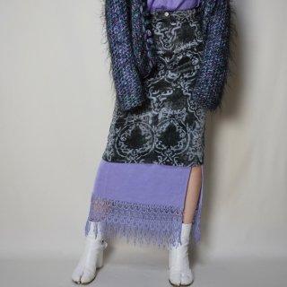Used Damask Corduroy Middle Skirt