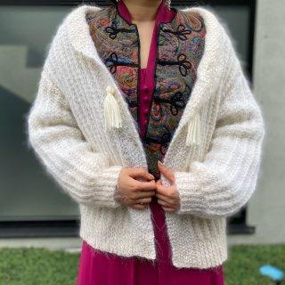 Used Shawl Collar Knit Cardigan