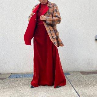 Used Velour Super Long Skirt