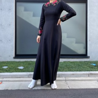 Used Rose Embroidery Long Dress