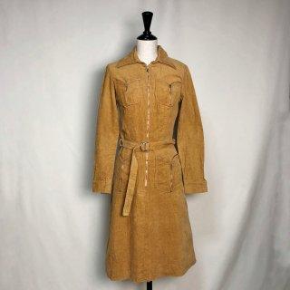 Used Corduroy Zip Dress