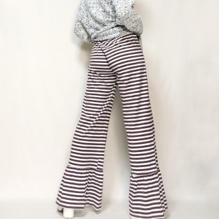 Used Border Frill Hem Easy Pants