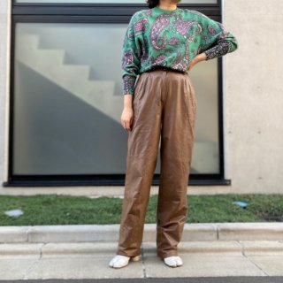 Used Leather Pants Brown