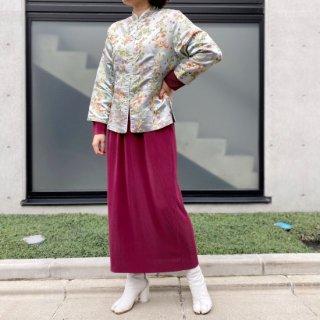 Used Pleats Dress WINE