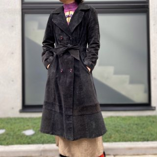 Used Suede Long W Coat