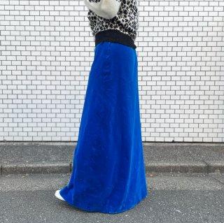 Used Velour Super Long Skirt BLUE