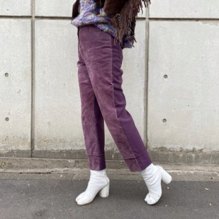 Used KIRIKAE Suede Pants PURPLE