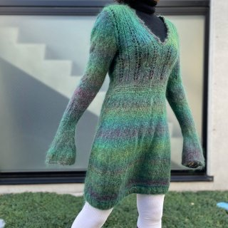 Used Mohair Gradation Knit Dress
