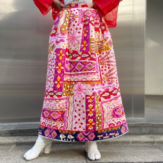 Used Quilting Long Skirt