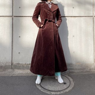 Used Velour Actress Long Coat