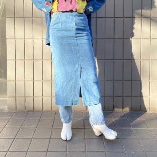 Used Denim Long Tight Skirt