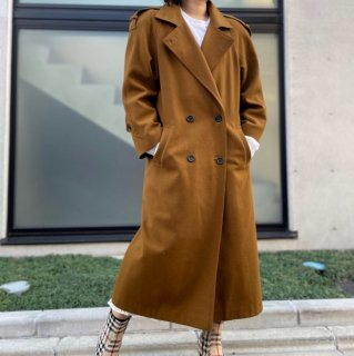 Used Wool Back Button Design Coat
