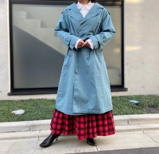 Used Liner Trench Coat DUSTY BLUE
