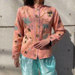 Used Oriental Embroidery Pastel Jacket