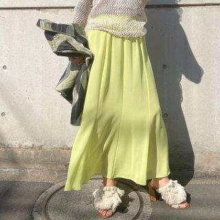 Used Sheer Long Skirt GREEN