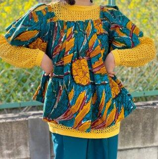 Used African Batik Design Top