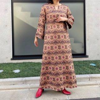 Used Oriental Jacquard Long Dress