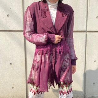 Used Sheer Sleeve and Hem Jacket