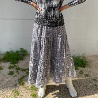 Used Gingham Check Long Skirt
