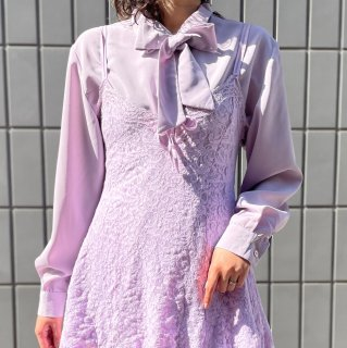 Used Bow Tie Shirts LAVENDER