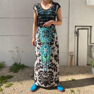 Used Tribal Cut-sew Long Dress