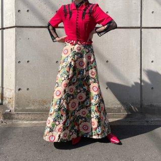 Used Pattern Long Skirt