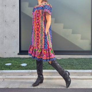 Used Psychedelic Ethnic Dress